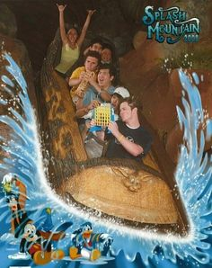 19 Hilarious Pictures Of People Posing On Splash Mountain