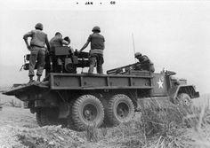 "Army ""quad fifty"" gun truck near Dong Ha...."