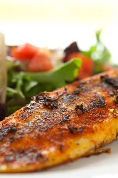 There are a lot of tilapia recipes to choose from but this one makes good use of spices and sugar to result in a tasty and crispy blackened crust. Do not confuse blackening with burning. Blackening is deliberate and burning is accidental. Blackening means cooking fish (or meat or poultry) until the spice mixture on the outside chars. You can buy blackening spices or make your own mixture.
