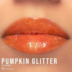 Limited Edition Pumpkin Glitter Gloss by SeneGence a gorgeous tinted orange shade with sparkling gold glitter. #pumpkinglitter #senegence