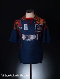 1994-96 Aberdeen Away Shirt *BNIB* Sir Alex Ferguson, Aberdeen, Football Jerseys, Soccer Players, Polo Ralph Lauren, Mens Tops, Fashion, Football Soccer, Football Shirts