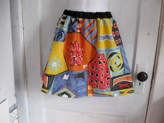 Bright and Colorful Abstract Print aline skirt - Free size