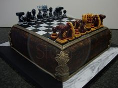 Chess anyone? This cake would make a good decorative piece....