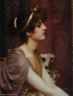 classical beauty - John William Godward