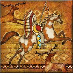 Southwest Horse 1 by Dan Morris - Kitchen Backsplash / Bathroom wall Tile Mural Tile Mural Store-Animals,http://www.amazon.com/dp/B00BDNRGL4/ref=cm_sw_r_pi_dp_2NwKsb0VN0RHHBWJ