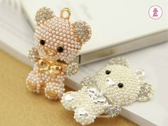 1 PC 48 mm Cute Luxury Alloy Bling Pearl Bear by WeChoice2013, $4.95