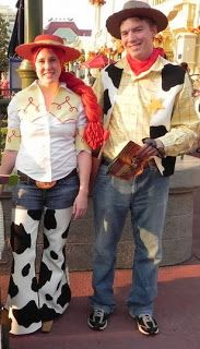 How to DIY Toy Story Costumes cont: Jessie Chaps & Woody Vest Old blog, good info! Everything from how to make the chaps to the shirts and even a mini buzz light year outfit (not pictured)!!
