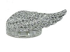 """Garrard """"peace, purity, and protection"""" ring"""