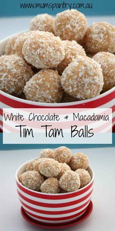 White Chocolate and Macadamia Tim Tam Balls - Mum's Pantry