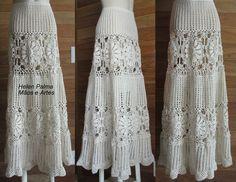 Saia longa em crochet encomendas hcpalma@gmail.com