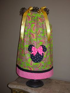 Minnie Pillowcase Dress Green Paisley  Etsy.com STLGIRL