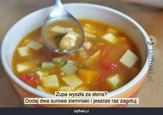 Zupa wyszła za słona? - pomysły, triki, sposoby, lifehacki, porady Cantaloupe, Fruit, Ethnic Recipes, Food, Essen, Meals, Yemek, Eten