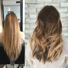 Before and after. Textured haircut done by Shannon at The French Twist Salon in Toledo,OH.