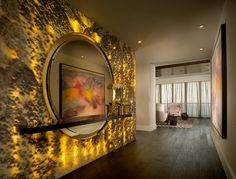 Onyx Black Cloud - backlit - contemporary - hall - miami - Marble of the World