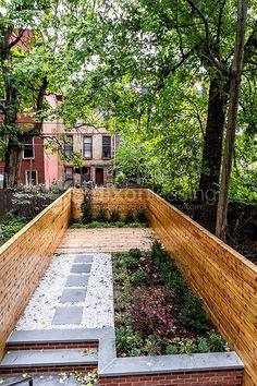 A rarity in Brooklyn, this expansive yard features a zen garden, horizontal fencing and a beautiful back patio.