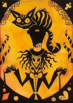 Wonderland: Mad hatter and Cheshire cat by MissPoe on deviantART