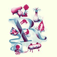 Illustrated alphabet by Icinori