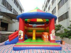 Big Colorful Inflatable Castle Bouncy Slide