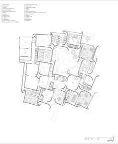 Imagen 34 de 46 de la galería de Museo Internacional del Barroco / Toyo Ito. Upper Floor Plan