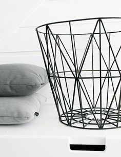 Via Elisabeth Sofie   Ferm Living Wire Basket   Black and Grey