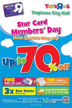 24-26 Apr 2015: Toys R Us Star Card Members Day