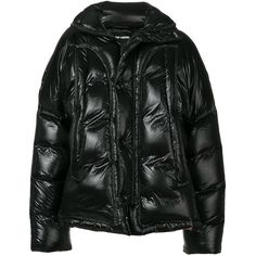 Raf Simons oversized padded jacket (8,090 PEN) ❤ liked on Polyvore featuring men's fashion, men's clothing, men's outerwear, men's jackets, black, mens padded jacket and mens oversized denim jacket
