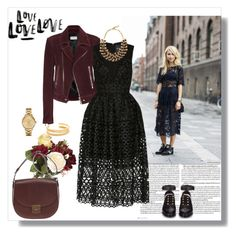 """Lace dress"" by murenochek ❤ liked on Polyvore featuring Murphy, Balenciaga, OKA, Nicholas, Etro, Lacoste, Madewell, CÉLINE, StreetStyle and lace"