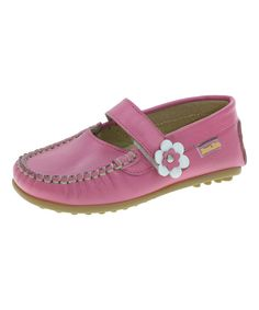 Look at this BEPPI Pink Leather Mary Jane Loafer on #zulily today!