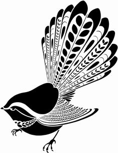 Fantail by New Zealand artist Flox (Hayley King). Artwork for Fly My Pretties… New Zealand Tattoo, New Zealand Art, Maori Designs, Kirigami, Maori Patterns, Arte Tribal, Nz Art, Maori Art, Kiwiana