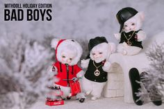 #WITHDOLL #Holiday Edition #BadBoys #PolarBear #Ermine #16cm #BWD #Animal #Ace #Jax #Neo #CreamWhite skin #hiphop