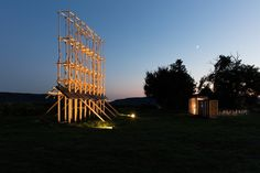 Architects Construct Village of 14 Wooden Structures at Hello Wood 2016 © Tamás Bujnovszky