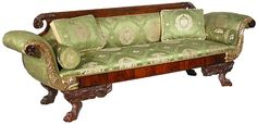 A Carved Mahogany Classical Sofa, Phyfe School, c.1810