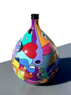 Grands Vases, Good Morning Flowers, Bottle Art, Clay Crafts, Oeuvre D'art, Ceramic Art, Altered Art, Amazing Art, Painted Furniture