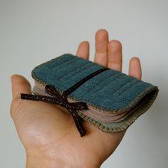 Wool Felt Needle Book // Deep Dark Wood // LoftFullOfGoodies. $26.00, via Etsy.