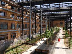 Rosa Luxemburg garden & Halle Pajol in Paris. By In Situ Paysages et urbanisme.
