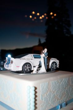 Custom Wedding Cake Topper Jeep for Colleen by MandMClayCreations