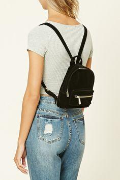 Velvet Mini Backpack | Forever 21 - 1000221240