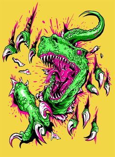 Vote for my submission please! Help the T. Vote: [link] T. Wow Art, Psychedelic Art, T Rex, Graffiti Art, Cartoon Art, Graphic Art, Fantasy Art, Design Art, Art Drawings