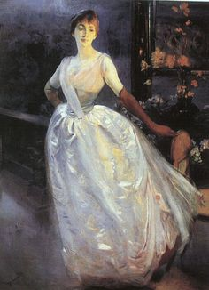 Henriette Jourdain, 1866, oil on canvas by Paul-Albert Besnard, French painter and printmaker, 1849-1934. Musée d'Orsay, Paris, France. Besnard studied at the École des Beaux-Arts and was influenced by Alexandre Cabanel. When he began his career, his...