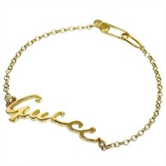 Gucci 18K Yellow Gold Bangle Bracelet With Box