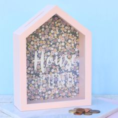 Savings Box, New Home Gifts, Box Frames, First Home, New Homes, House, Home Decor, Gifts For New Home, Homemade Home Decor