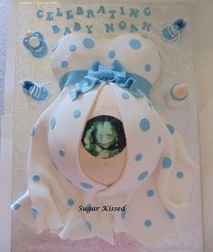 Baby shower cake belly ultrasound ideas for 2019 Torta Baby Shower, Baby Shower Niño, Shower Bebe, Baby Shower Balloons, Baby Shower Favors, Baby Shower Themes, Baby Shower Gifts, Shower Ideas, Pregnant Belly Cakes