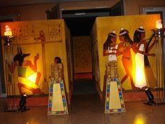 Gallery - Egyptian Themed Props, Stage Sets and Decorations Egypt Decorations, Halloween Decorations, Halloween Party, Egyptian Themed Party, Prince Of Egypt, Egyptian Mummies, Prom Themes, Night At The Museum, Stage Set
