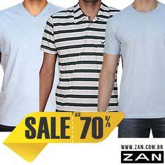 Qual a pedida para o dia? Camisa lisa ou listrada? #Zan
