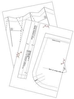 Sewing Pattern Pleated Clutch Purse von ConstructivPatterns auf Etsy