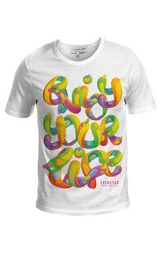 T-shirt EvenStar col Rond modèle Enjoy your life