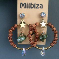 "Miibiza ""Sea Star"" ❤️ oorbellen met Swarovski elements"