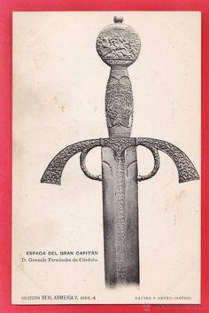 postal - real armeria v serie 6 - espada del gran capitan - ed. hauser y menet - años 10 - Foto 1