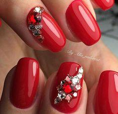 Bling Nails, Red Nails, Nail Designs, Nail Art, Instagram Posts, Ideas Para, Beautiful, Beauty, Art Ideas
