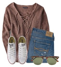 I like this shirt by flroasburn on Polyvore featuring American Eagle Outfitters, Abercrombie & Fitch, Converse and Ray-Ban
